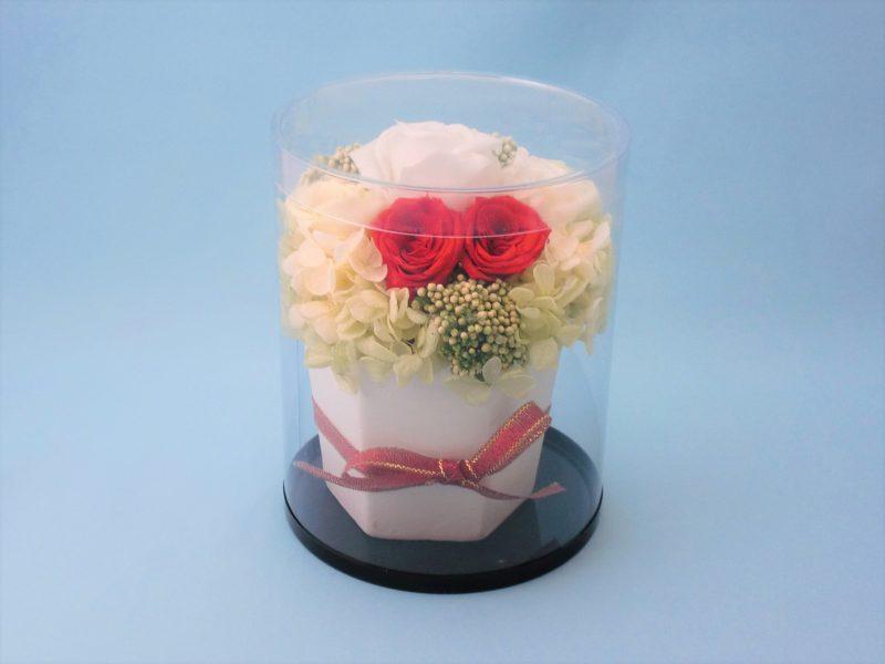 生花の円筒ケース