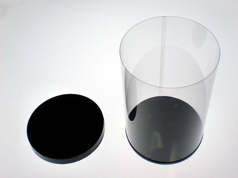 円筒ケース(黒蓋/黒底)