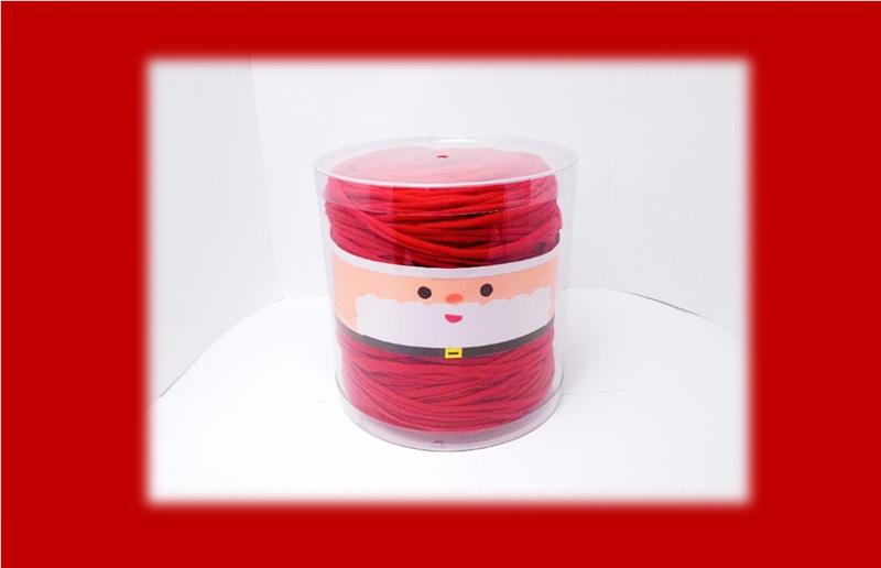 毛糸のクリアケース(クリスマスver)①