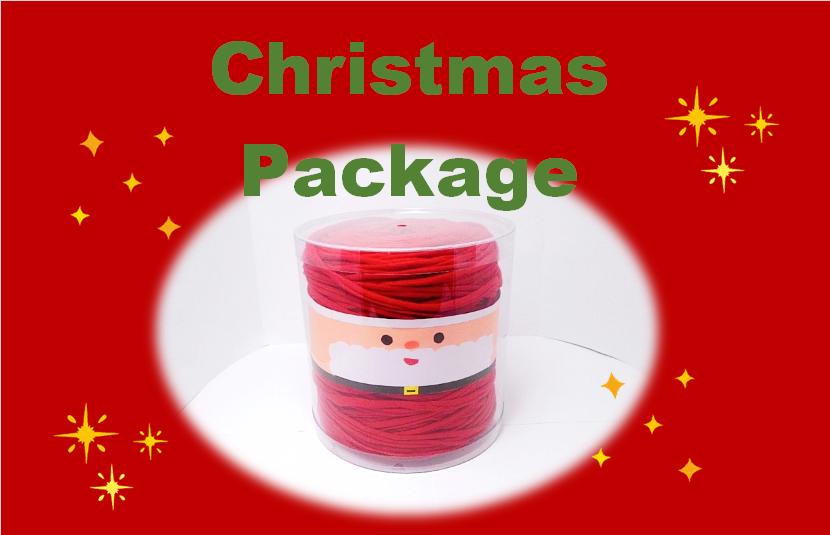 毛糸のクリアケース(クリスマスver)