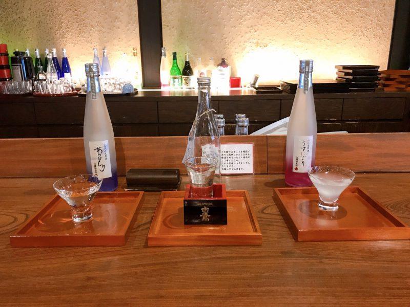 オリジナル日本酒3種