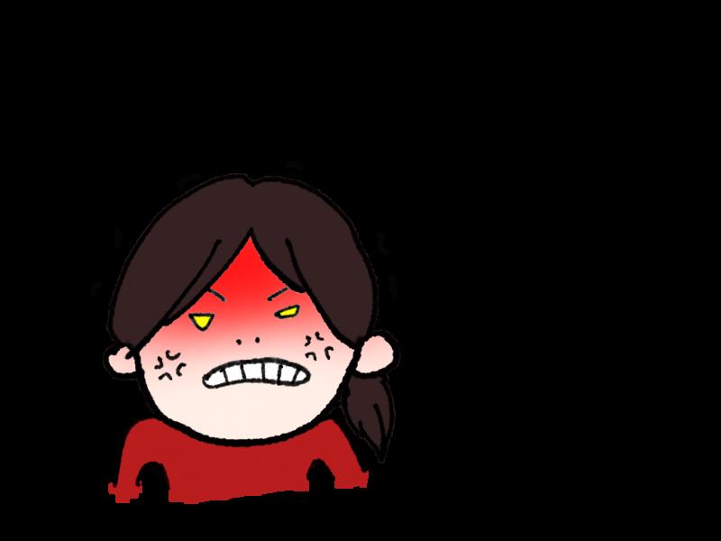 怒った顔①