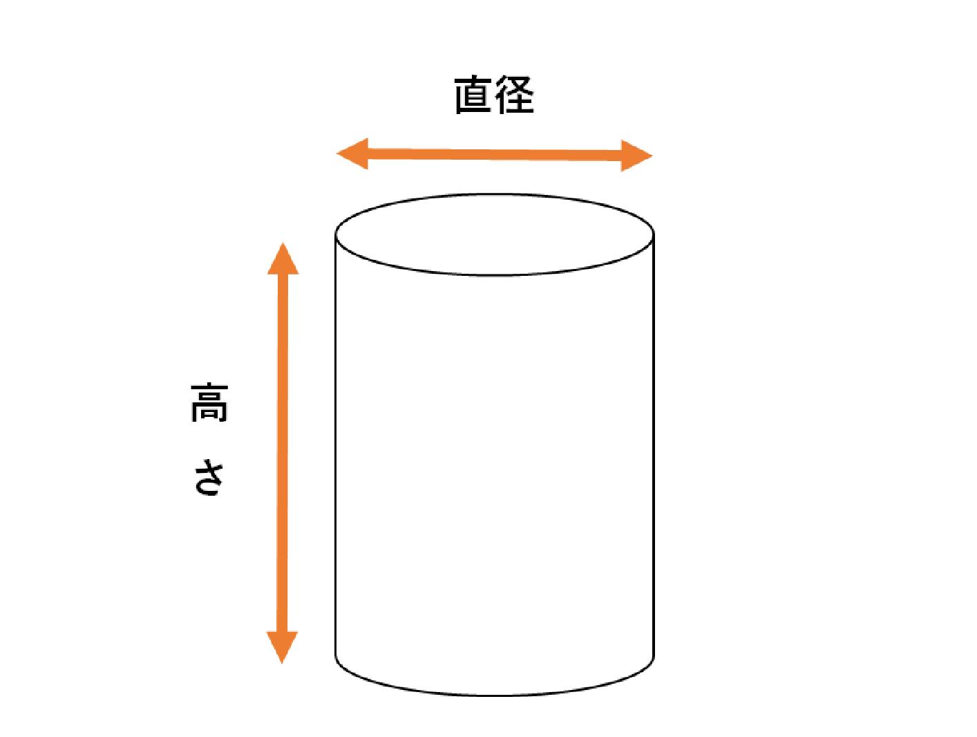 円筒ケースのサイズ